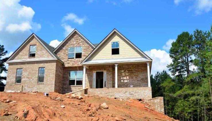 új ház építése