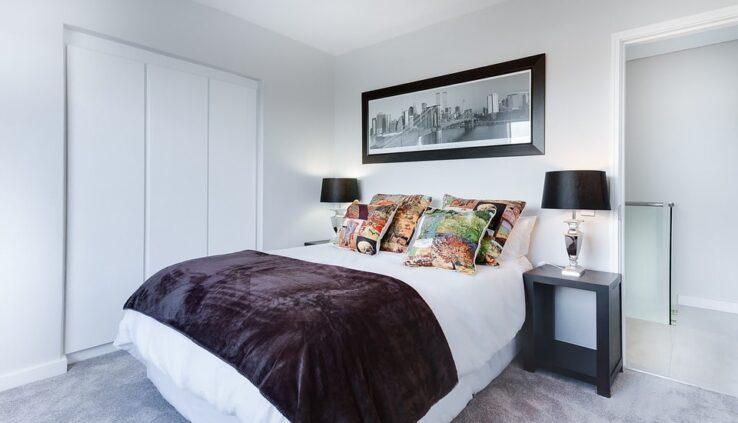 modern hálószoba