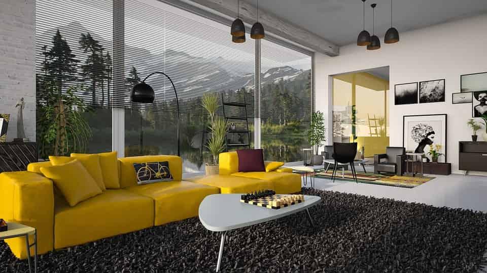 modern nappali berendezés